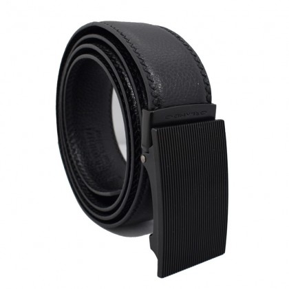 Orlando Men's Autolock Leather Belt Black(RL02001D171)