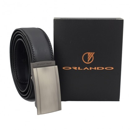 Orlando Men's Autolock Faux Leather Belt Black(RL02003D171)
