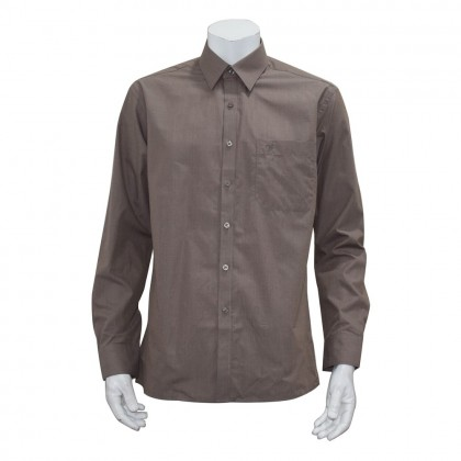 Orlando Men's Long Sleeve Business Shirt (Brown-83)