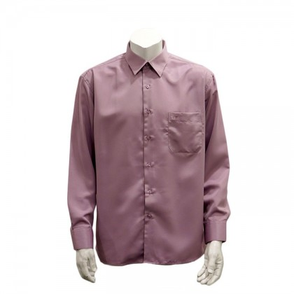 Orlando Men's Long Sleeve Plain Shirt (Red-74)