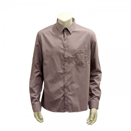 Thomas London Men's Long Sleeve Plain Shirt (VIOLET-21)