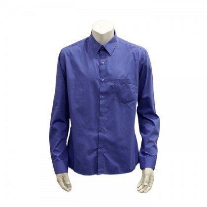 Thomas London Men's Long Sleeve Plain Shirt (Blue-34)