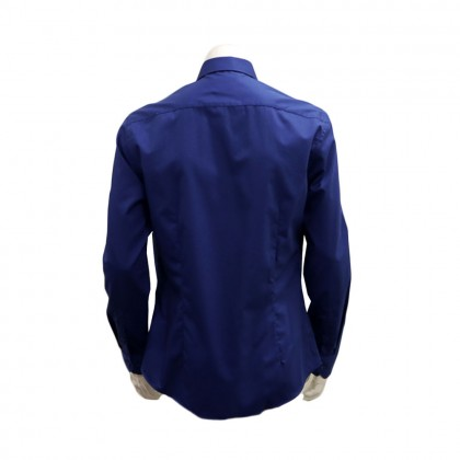 Thomas London Men's Long Sleeve Plain Shirt (Dark Blue-37)
