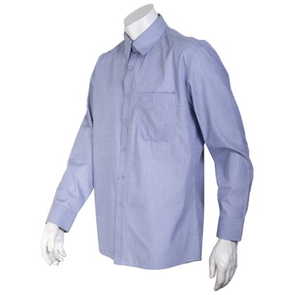 Orlando Men's Long Sleeve Business Shirt (Blue-34)