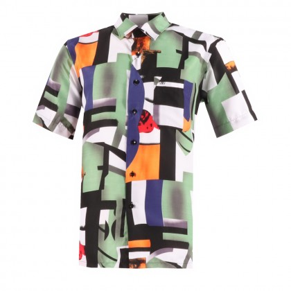 GMV MEN SHORT SLEEVE FLORAL SHIRT PRINTED - GM8550XB211